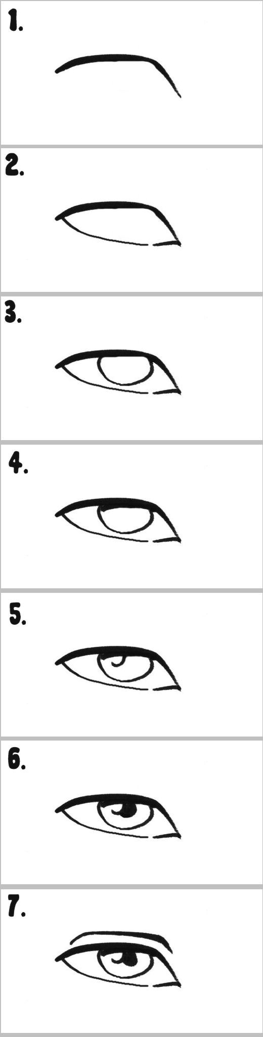 A seven-step breakdown on drawing the eye.