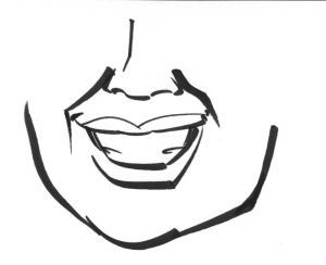 An illustration of heavy smile lines.