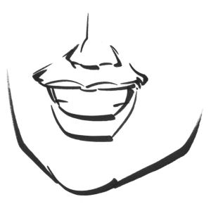 An illustration of good smile lines