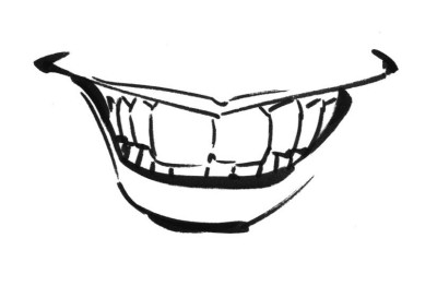 A drawing with every tooth delineated
