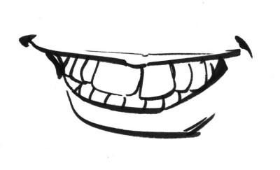 A bad drawing of teeth