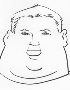 An average obese face